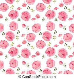 あなたの, 手ざわり, posters., カード, パターン, 発表, デザイン, 挨拶, 定型, 赤, roses., seamless, かわいい, 無限
