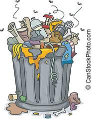 あふれる, trashbin
