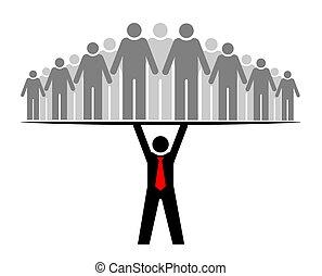 ∥あるいは∥, グループ, everyone., 人々, そっくりそのまま, boss., 上司, community., ∥そ∥, チーム, サポート, リーダー