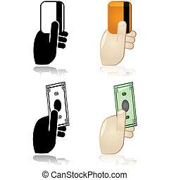 ∥あるいは∥, 支払い, クレジット, 現金, 借方, オプション