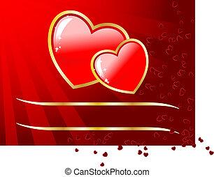 ∥あるいは∥, 日, スペース, 空, あなたの, カード, text., 結婚式, ベクトル, バレンタイン