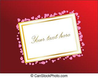 ∥あるいは∥, 日, hearts., バレンタイン, 勾配, テキスト, 空, あなたの, カード, ベクトル, デザイン, バックグラウンド。, theme., 赤