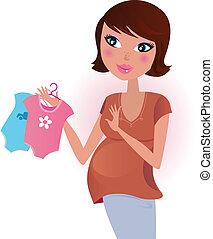 ∥あるいは∥, 赤ん坊, woman., 男の子, girl?, 妊娠した