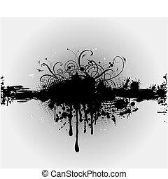 ∥あるいは∥, plaint, splatter., grungy, ベクトル, インク