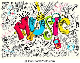 いたずら書き, 音楽