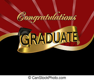 おめでとう, グラフィック, 卒業生