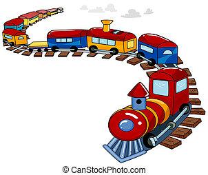おもちゃの列車, 背景
