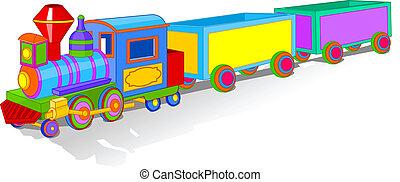 おもちゃ, カラフルである, 列車
