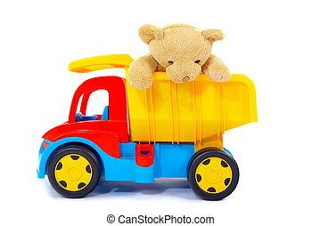 おもちゃ, 熊, トラック