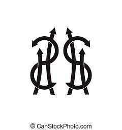 お金の 記号, グランジ, ドル, ベクトル, 装飾
