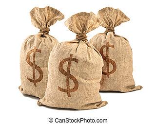 お金は袋に入れる