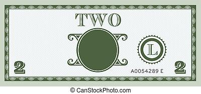 お金, イメージ, 手形, 2