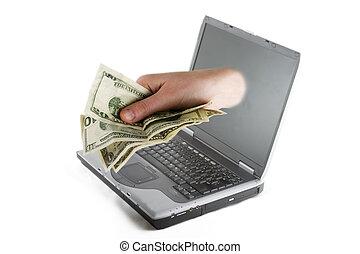お金, オンラインで