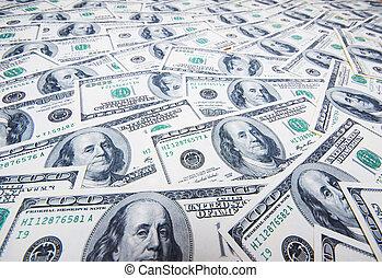 お金, ドル, 山, 背景