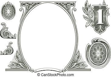 お金, ベクトル, 装飾