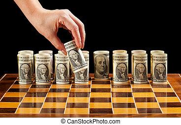お金, 作戦