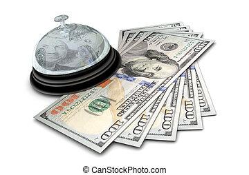 お金, 机の鐘
