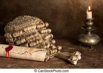 かつら, 裁判官, 羊皮紙, スクロール