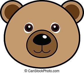 かわいい, ベクトル, 熊
