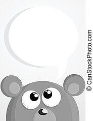 かわいい, マウス, スピーチ泡, 漫画