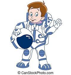 かわいい, 宇宙飛行士, 漫画, 男の子