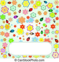 かわいい, 愛, バレンタイン, 花, 鳥, カード