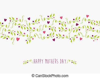 かわいい, 母, パターン, seamless, 日, 幸せ