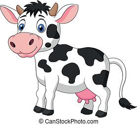 かわいい, 漫画, 牛