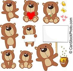 かわいい, 熊, テディ