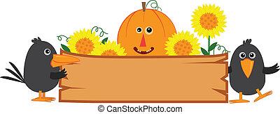 かわいい, 秋, 印