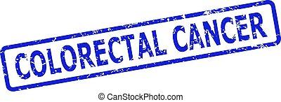 がん, 切手, フレーム, 円形にされる, rect, スタイル, colorectal, 傷付けられる