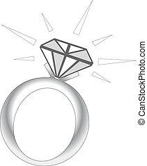 きらめき, リング, ダイヤモンド