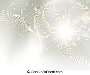 きらめき, starburst, -, 背景