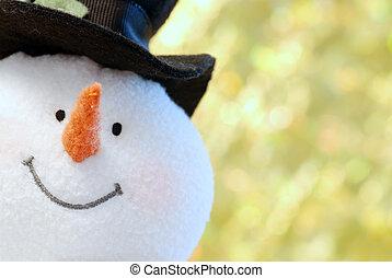 ぐっと近づいて, 雪だるま, 顔