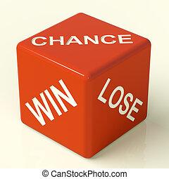 さいころ, 勝利, 提示, チャンス, 失いなさい, 機会, 赤, 運