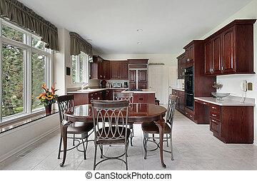 さくらんぼ, 木, cabinetry, 台所