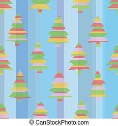 しまのある, seamless, 木, クリスマス