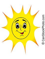 すてきな微笑, 陽気, 太陽, shines