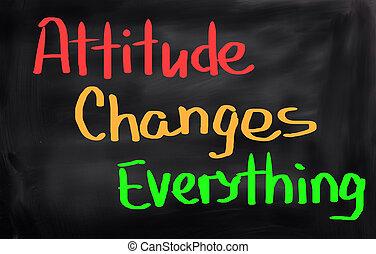 すべて, 態度, 概念, 変化する