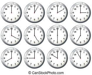 すべて, 時計, オフィス, 時