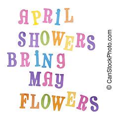 ∥そうするかもしれない∥, 4 月, 花, シャワー, 持って来なさい