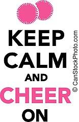 たくわえ, 喝采, cheerleading, 冷静