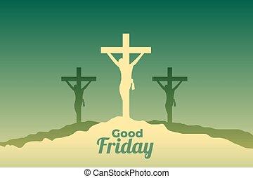 でき事, はりつけ, キリスト, 金曜日, 現場, よい, イエス・キリスト