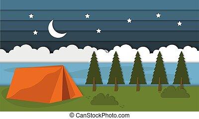 でき事, 風景, 背景, キャンプ, 夏, 夜, 屋外, 美しさ, 背景, よい, oaoercut, スタイル, 壁紙