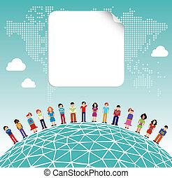 のまわり, 媒体, 世界的である, 社会, 世界, ネットワーク