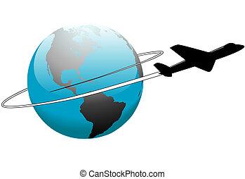 のまわり, 旅行, 航空会社, 地球, 世界, 飛行機