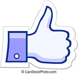 のように, facebook, ボタン, それ
