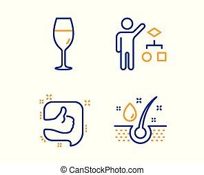 の上, オイル, のように, アイコン, set., algorithm, wineglass, デベロッパー, ブルゴーニュ, 血清, ベクトル, ガラス。, 仕事, 印。, 親指