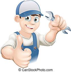 の上, 配管工, ∥あるいは∥, 機械工, 親指