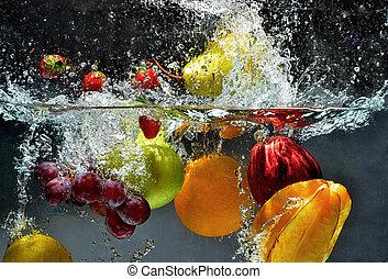 はね返し, 新鮮な果物, 水